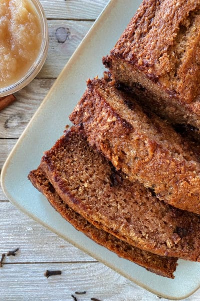 Applesauce Bread with Chocolate Chips