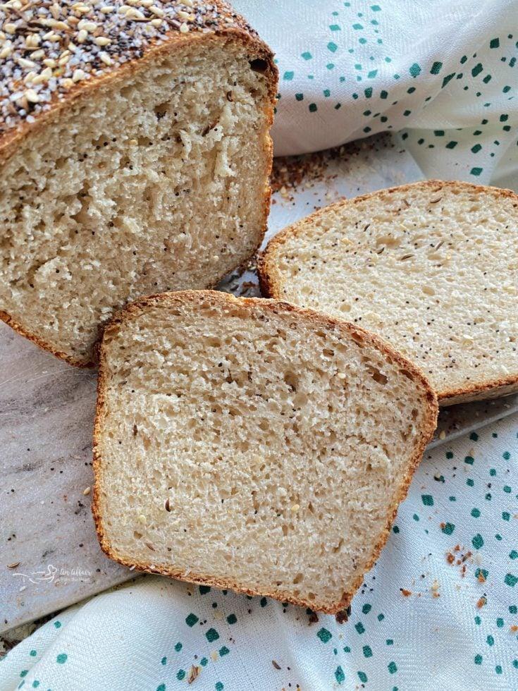 Everything Sauerkraut Bread sliced