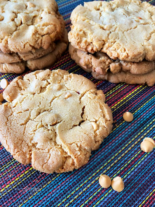 top view of giant butterscotch cookies