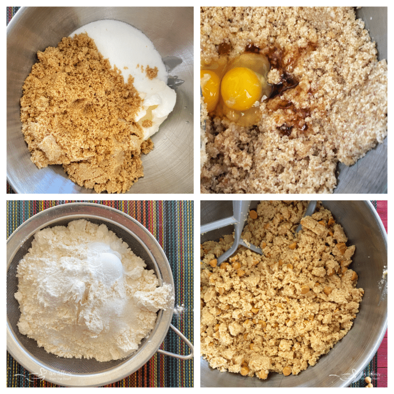 steps for butterscotch cookies with sugar and flour