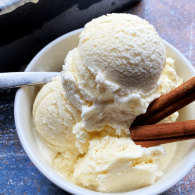 Homemade Cinnamon Vanilla Ice Cream