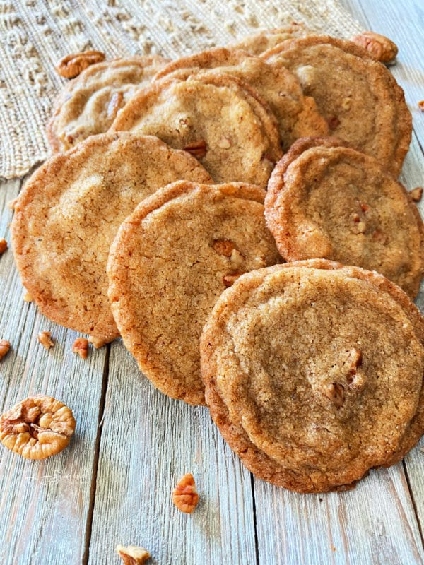 group of pecan cookies on table