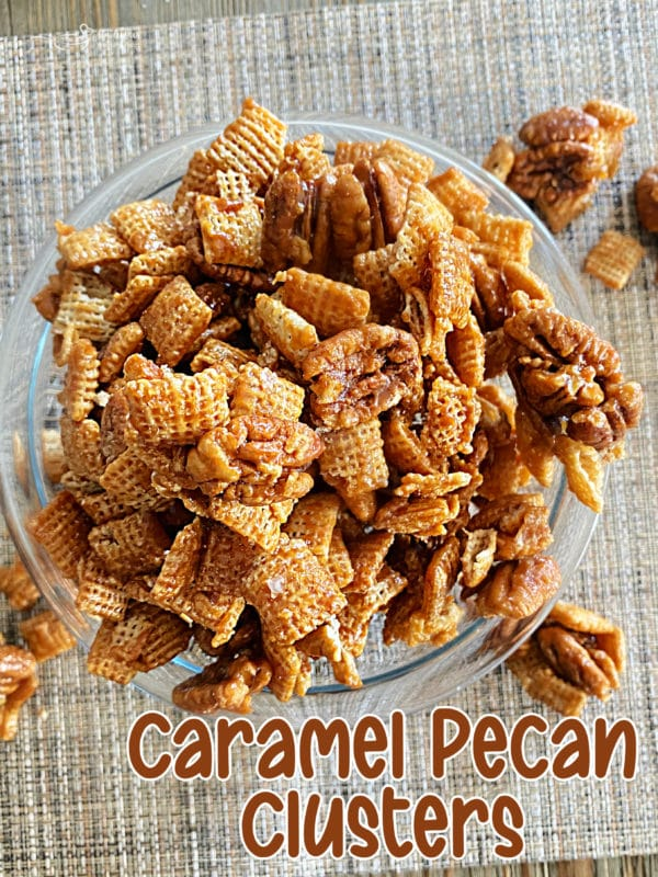 graphic for caramel pecan clusters