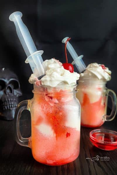 Bloody Dirty Shirley Floats #HalloweenTreatsWeek