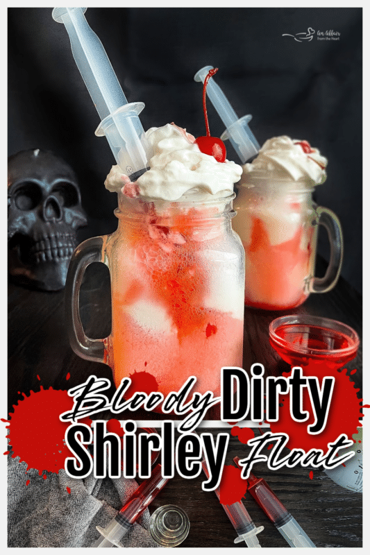 bloody dirty Shirley float cocktail
