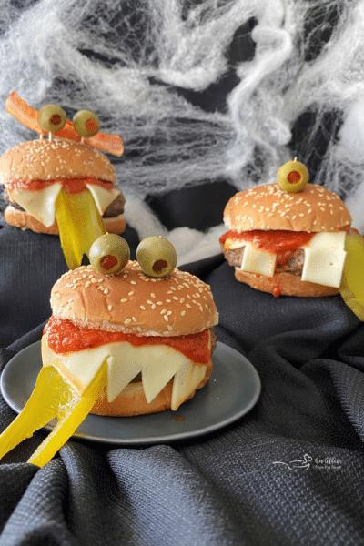 Halloween Monster Burgers #HalloweenTreatsWeek