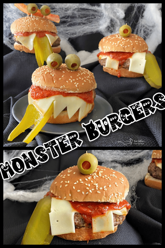 A variety of Halloween monster burger ideas to provide inspiration
